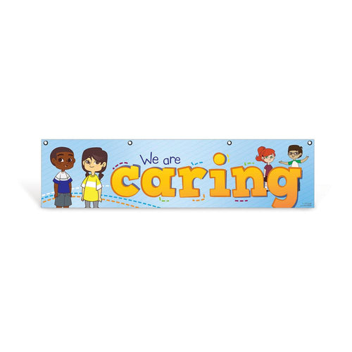 Elementary Caring Character Education Hanging Banner