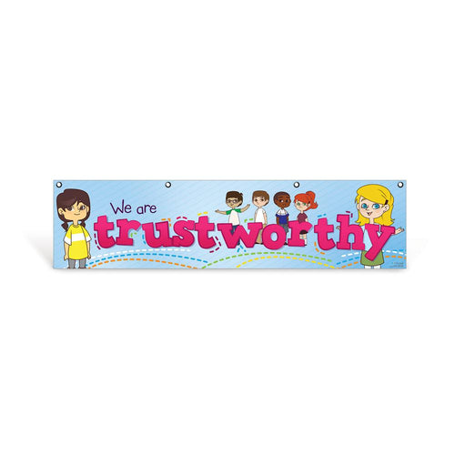 Elementary Trustworthy Character Education Hanging Banner