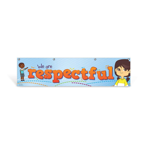 Elementary Respectful Character Education Hanging Banner