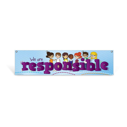 Elementary Responsible Character Education Hanging Banner