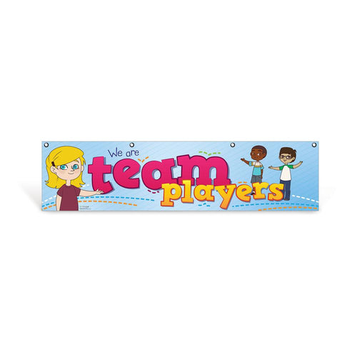 Elementary Team Player Character Education Hanging Banner