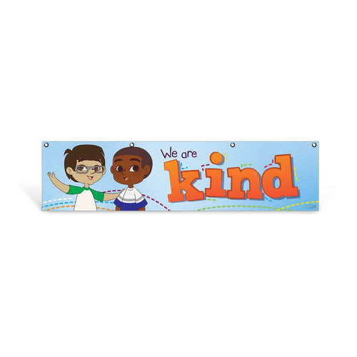 Elementary Kind Character Education Hanging Banner