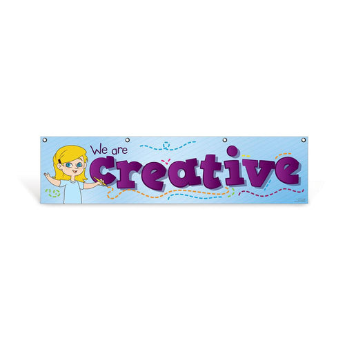 Elementary Creative Character Education Hanging Banner
