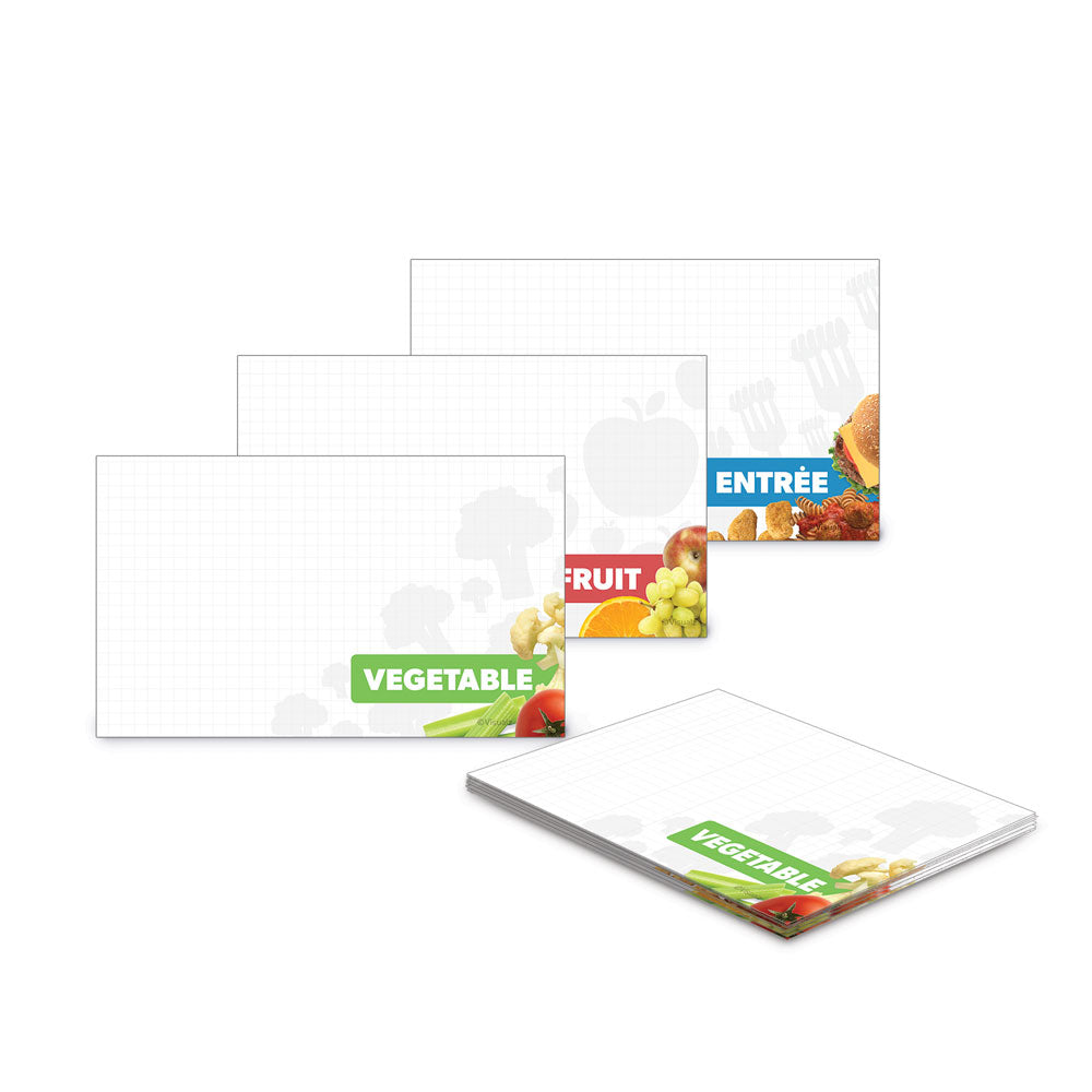 Serving Line Dry Erase Cards
