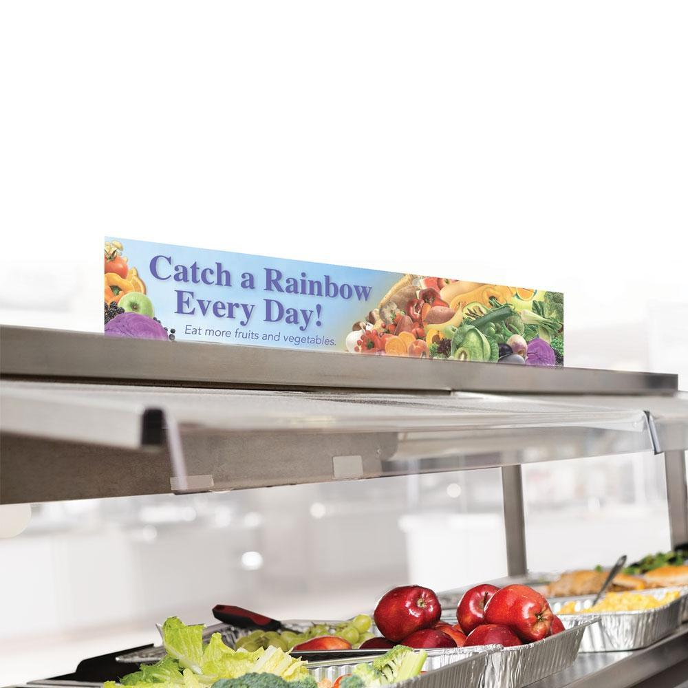 Catch a Rainbow Cafeteria Serving Counter Sign