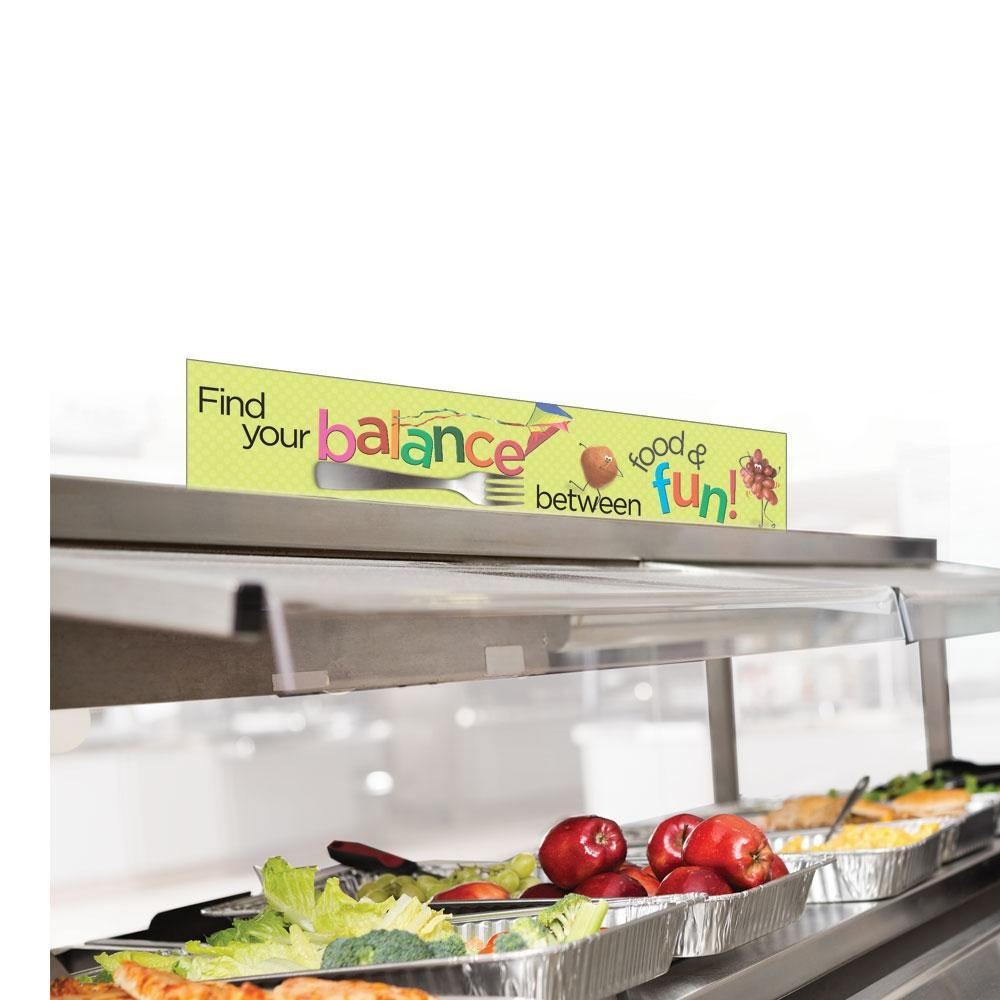 Kids MyPlate Cafeteria Serving Counter Sign