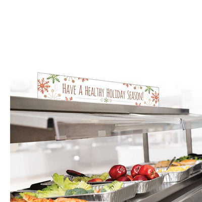Have a Healthy Holiday Season Cafeteria Serving Counter Sign Set