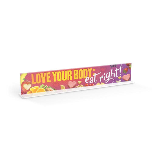 Love Your Body: Eat Right Cafeteria Countertop Sign Set