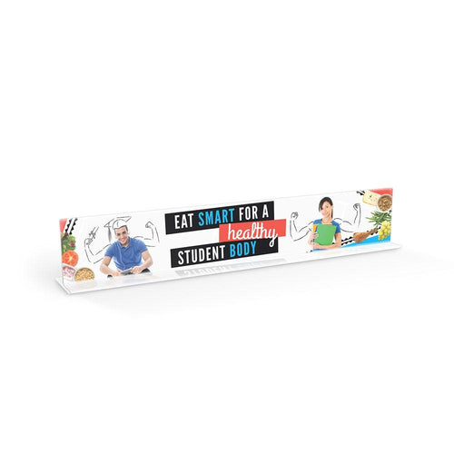 Eat Smart for a Healthy Student Body Cafeteria Serving Counter Sign Set