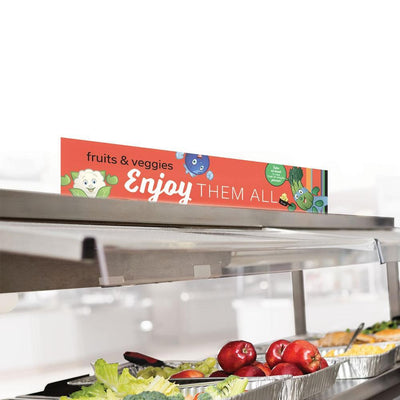 Fruits and Veggies Cafeteria Serving Line Sign Set