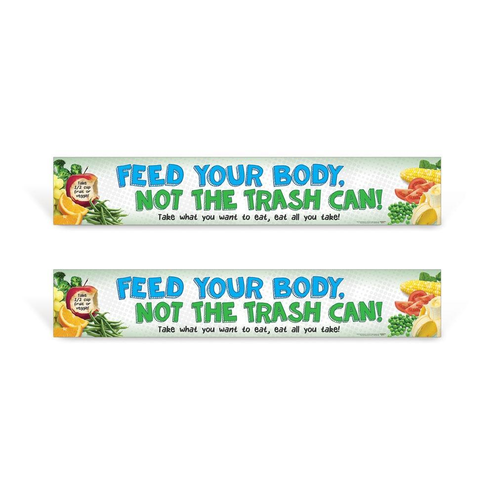 Cafeteria Food Waste Sign Set