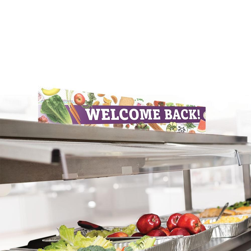 Cafeteria Welcome Back Serving Counter Sign