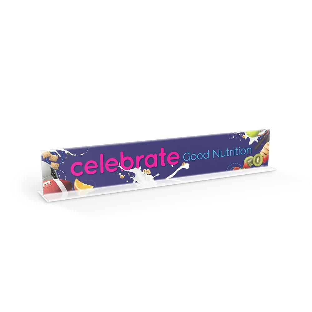 Celebrate Good Nutrition Cafeteria Serving Counter Sign