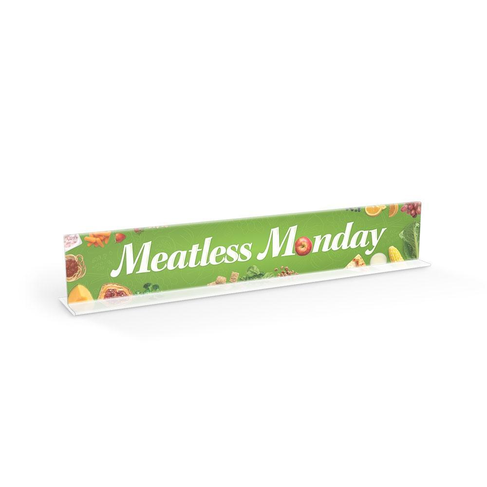 Meatless Monday Cafeteria Serving Counter Sign