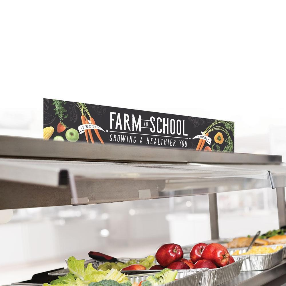 Farm to School Cafeteria Serving Counter Sign