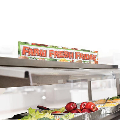 Farm Fresh Friday Cafeteria Serving Counter Sign