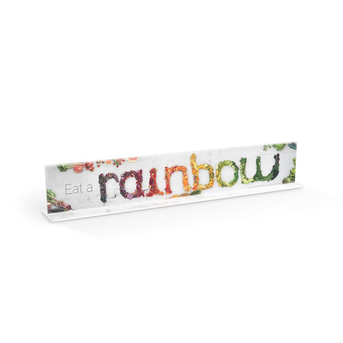 Eat a Rainbow Cafeteria Serving Counter Sign