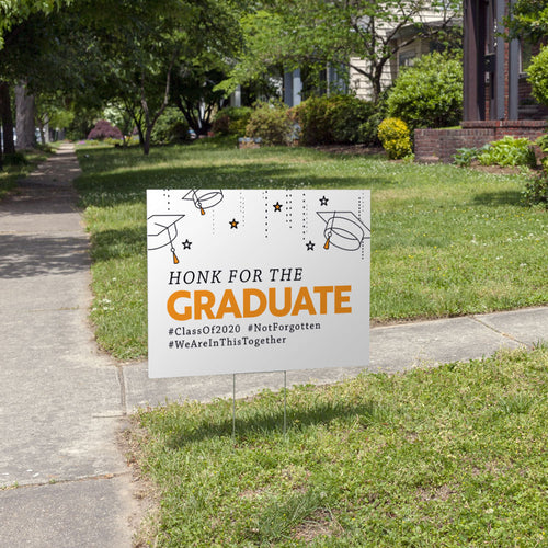 Honk for the Graduate 2020 Senior Yard Sign