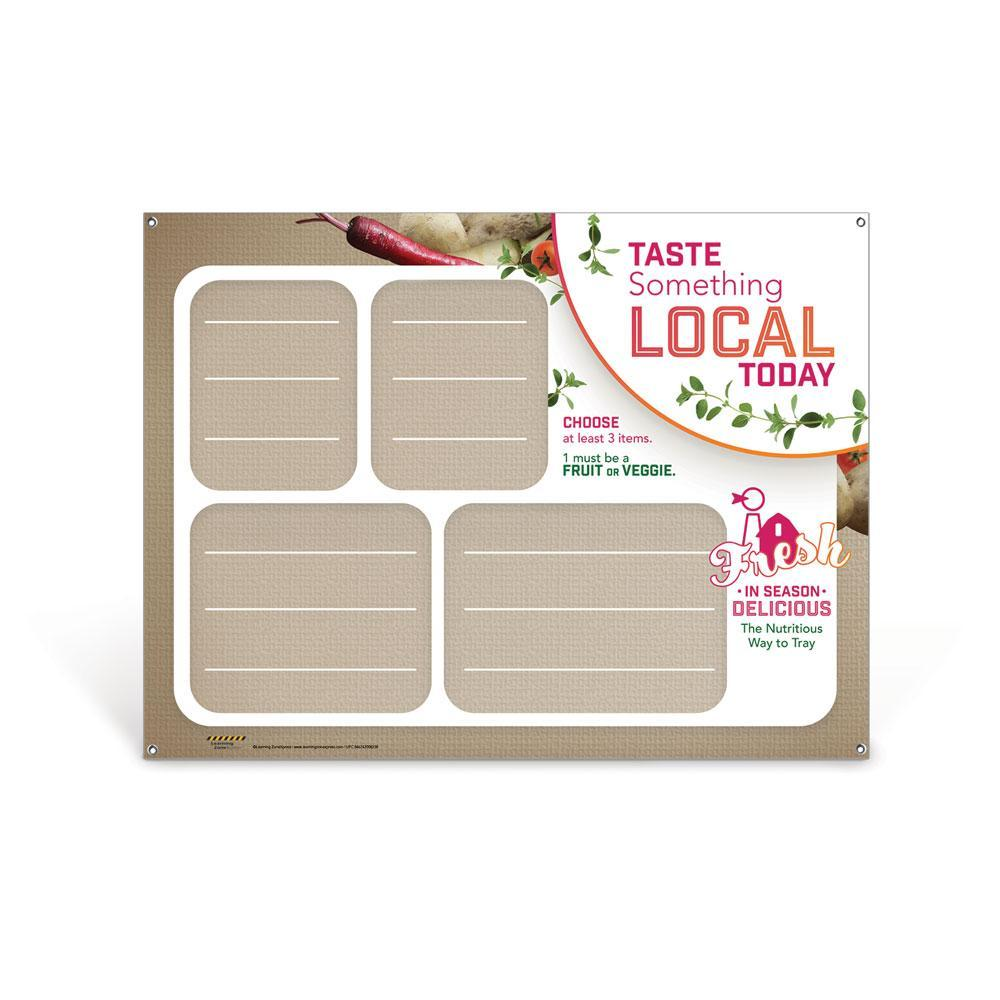 Custom Farm to School Vinyl Banner with Stand and Dry Erase Menu Board
