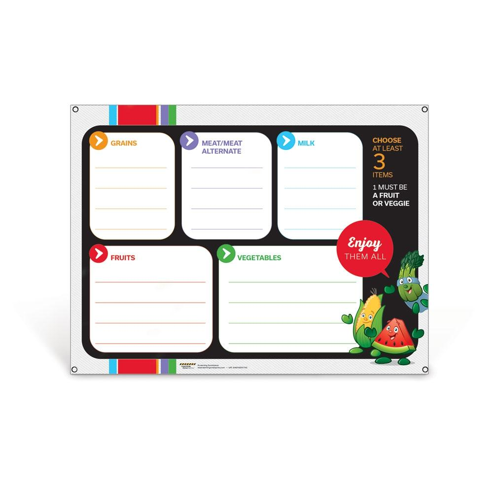 Garden Heroes® Lunch Tray Dry Erase Menu Board