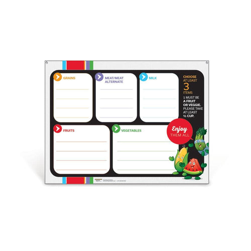 Garden Heroes Lunch Tray Dry Erase Menu Board