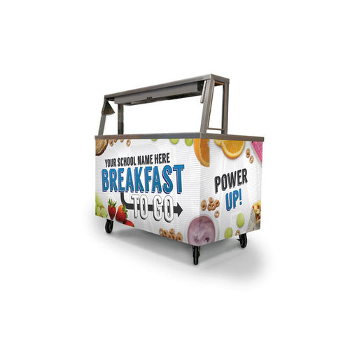 Custom Breakfast Cart Wrap