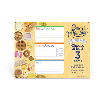 Breakfast Dry Erase Menu Board