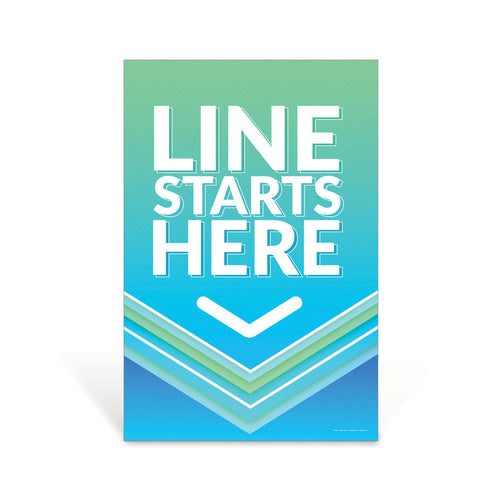 Line Starts Here Social Distancing Sign