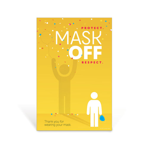 Superhero Mask Off Sign