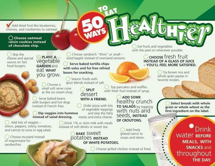50 Ways to Eat Healthier Handouts