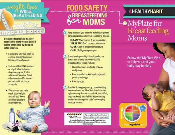 Myplate For Breastfeeding Moms Tri Fold Brochures Visualz