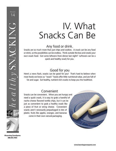 Healthy Snacking Mini-Unit