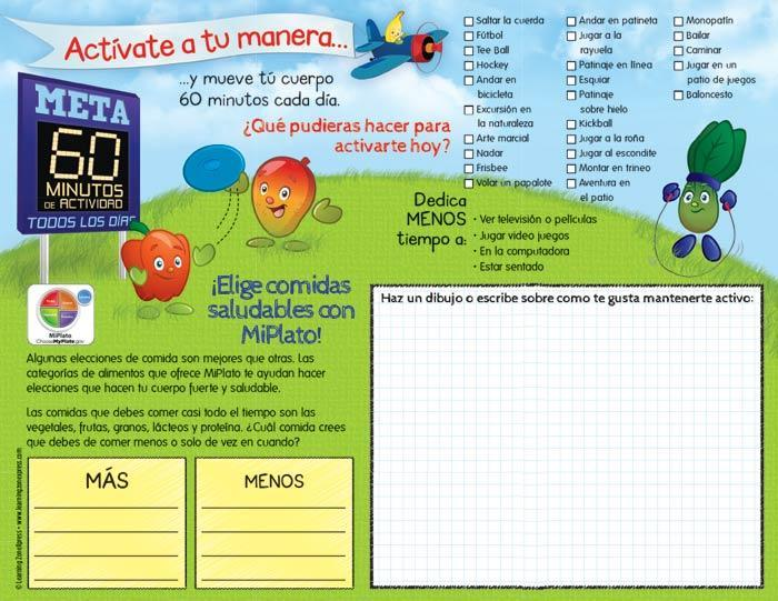 Active Kids MyPlate Spanish Handouts