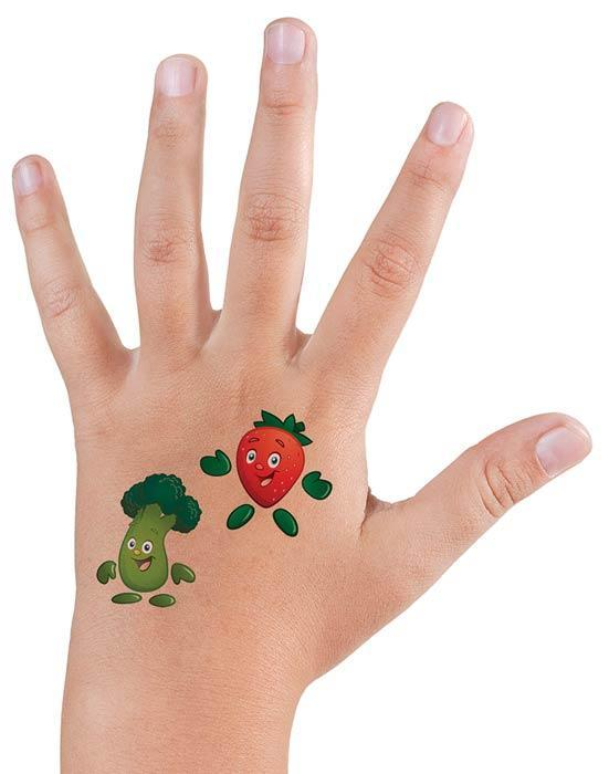 Garden Heroes® Temporary Tattoo Set