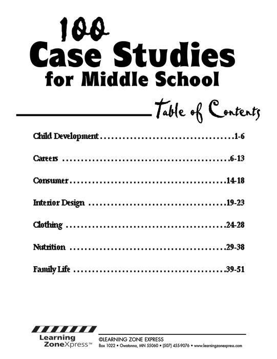 Case Studies for Middle School