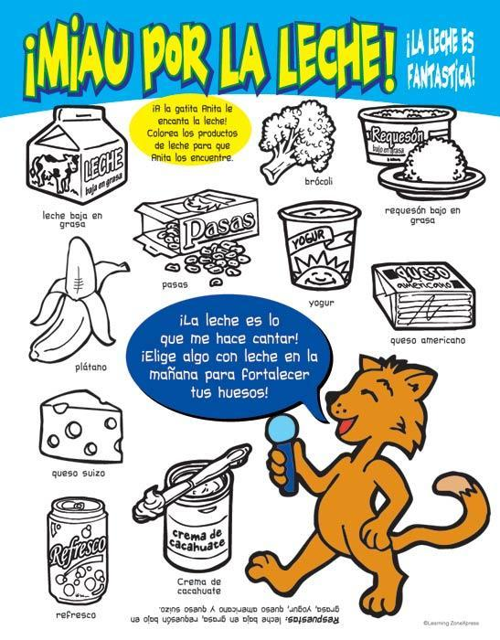 Espanol Healthy Eating Coloring & Games:Nuts About Nutrition Activity Books Spanish (Ages 2-6)