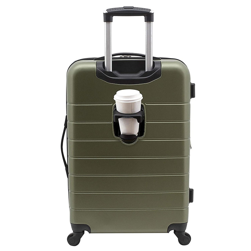 Wrangler Luggage With Usb Charging Port, Olive Green