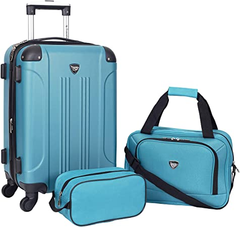 Travelers Club Sky+ Hardside Expandable Luggage Set , Teal