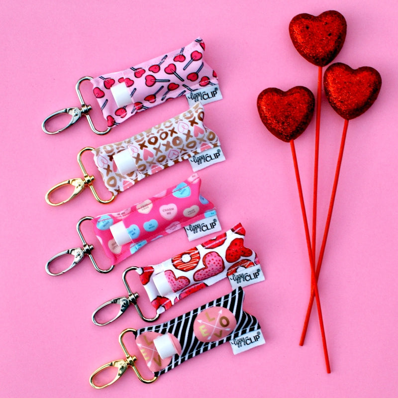 Pink Heart Lollipops