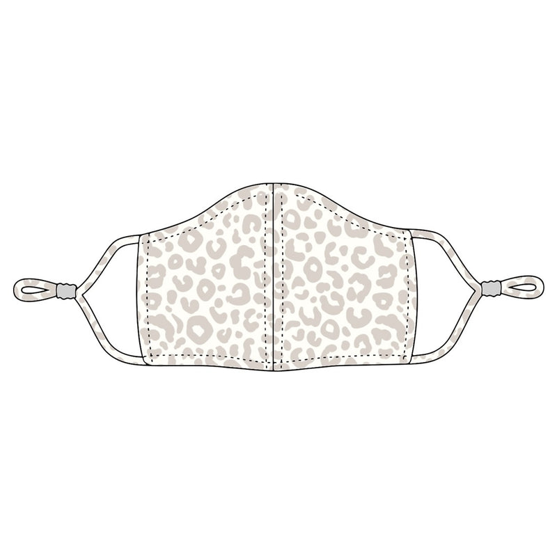 Natural Leopard Adjustable Adult Face Mask