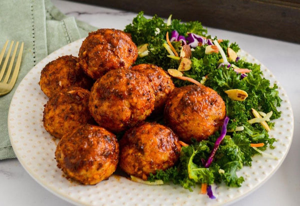 Chicken Meatballs with Sunday Sauce