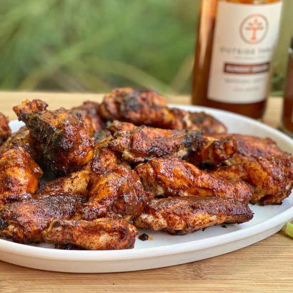 WBBQ wings finished with Sunday Sauce