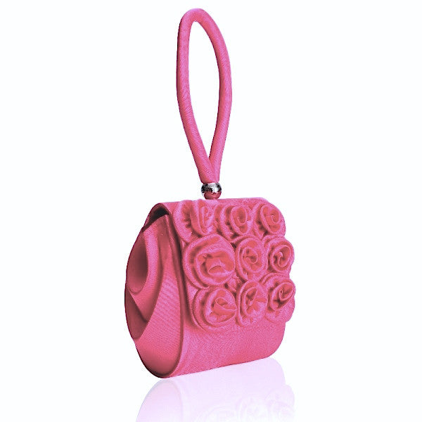 Fushia Rose Wristlet Bag