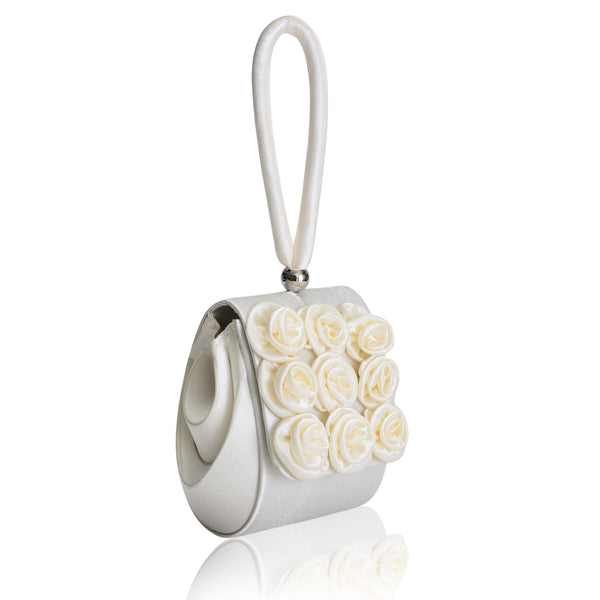 Beige Rose Wristlet Bag