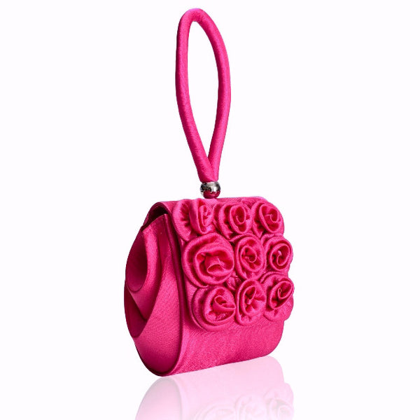Red Rose Wristlet Bag