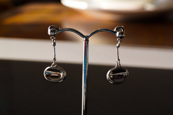 Silver Concave Earrings