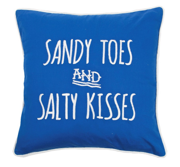 'Sandy Toes and Salty Kisses' Cushion