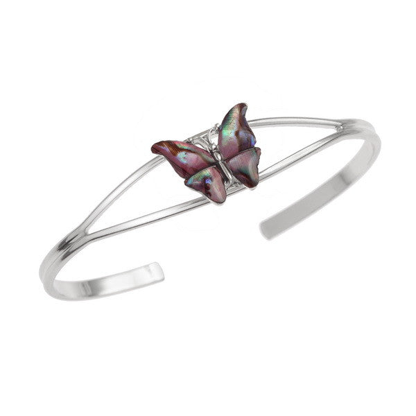 Pink Butterfly Bangle