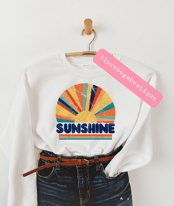 Retro Sunshine Sweatshirt(Vintage) - 3lovebugsboutique