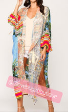Load image into Gallery viewer, Patchwork Flowy Kimono Robe - 3lovebugsboutique